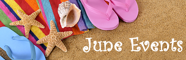 Beach background with towel, flip flops and copyspace (studio shot - warm color and directional light are intentional).