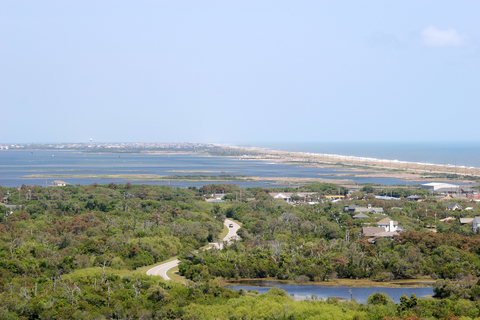 (Aerial view from Hatteras Lighthouse in Buxton, facing north towards Avon)