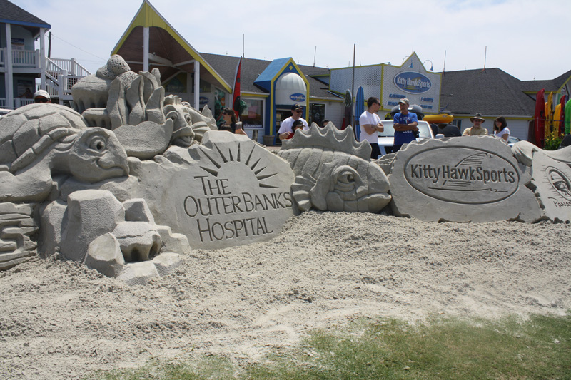 Sand Creations Highlight The Day! - Courtesy of Kitty Hawk Kites