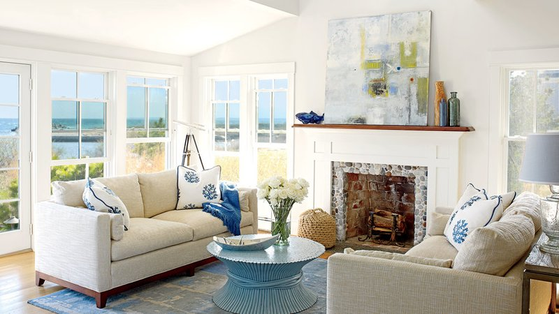 Coastal Living nautical living room