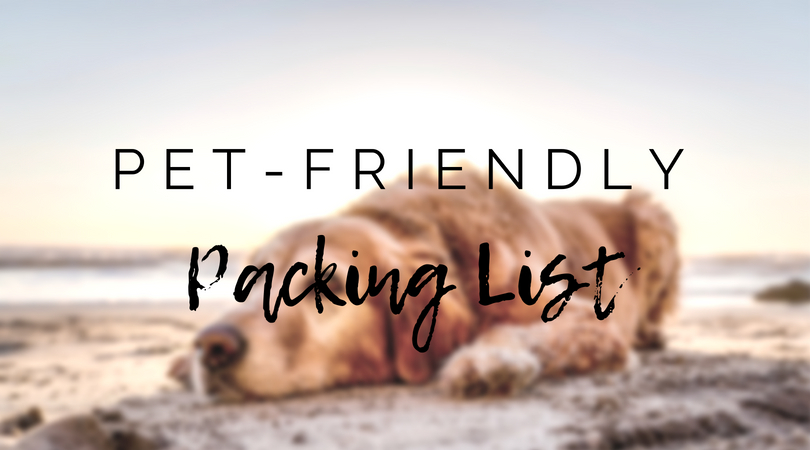Pet-friendly Outer Banks vacation rental packing list